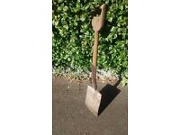 For Sale - lovely old/vintage wooden handled garden spade