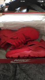 Red Nike huraches brand new size 3 more a 2