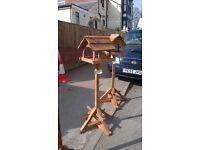 rustic bird table
