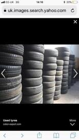 4 good used Tyres fitted to your car from £90