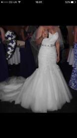 Fishtail wedding dress size 8-14