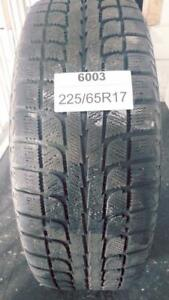 PNEUS HIVER USAGÉS / USED WINTER TIRES 225/65R17 22565R17 MAXTREK WOT 18 (2 DE DISPONIBLES)