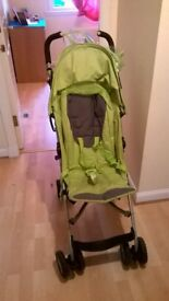 Mother Care Nanu Baby Stroller + Green + 3 yaers old + Good Condition + Has Rain Cover