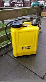 Clarke large weedkiller sprayer, in good but used condition