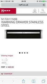 BRAND NEW never used Neff built fan oven, warming drawer and hob.
