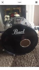 "Pearl 23"" chrome effect kick drum"