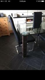 Barker and stonehouse glass dining table