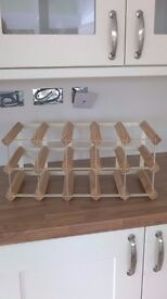 Wood and metal Wine Rack - good condition