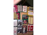 Collection of 9 Manchester United Season Ticket Books.