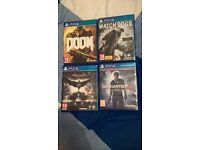 PS4 Games for sale 15£ {DOOM, WATCH DOGS ONLY}