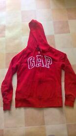 Womens Red zip up GAP hoodie