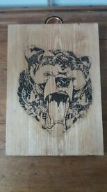 Personalised Wooden Art - Bear