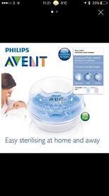 Philips AVENT bottle and teat steam steriliser