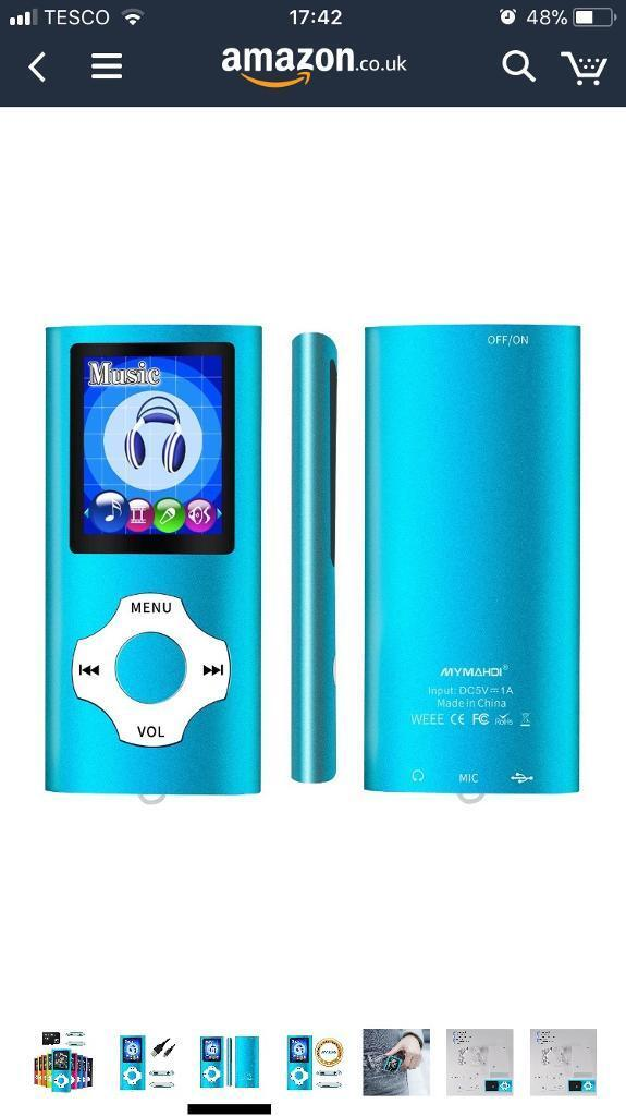 "Brand new mp3/mp4 player with 1.8"" screen"