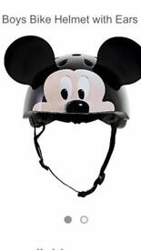 Mickey Mouse Childrens Bicycle Helmet with Ears 50-54cm
