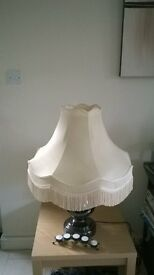 Standard lamp Shade in pale peach, 22 inch never used