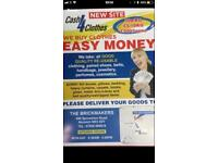 Cash 4 Cloths .We buy clean,udnameged, wearable clothes .