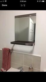 Next Moderna copper bathroom accessories towel rail toilet roll holder mirror