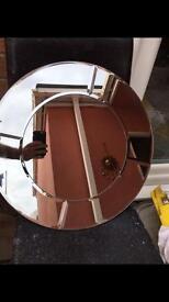 50cm Round Panelled Mirror