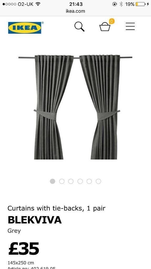 Ikea curtains blue grey 140cm x 250cm