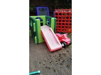 Little tikes slide and climbing cube and car