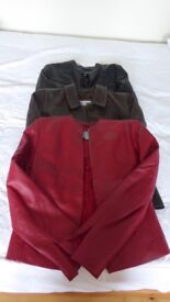 Ladies leather jackets size 8