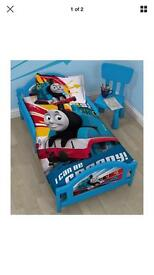 Toddler bed and memory foam mattress