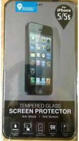 New tempered glass screen protector for I phone 5/5s