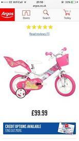 Barbie 12 inch bike. Brand new in box