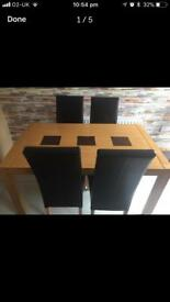 Table and 4 chairs £130