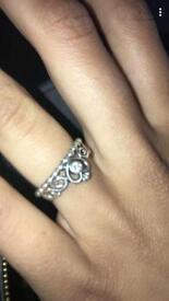 Sliver pandora princess ring