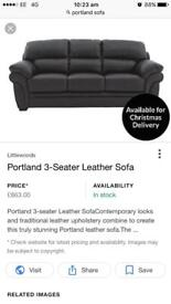 Brand new leather 3 seater sofa