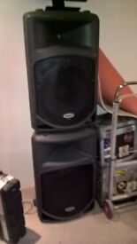 "Samson Powered Speakers 15"" 300w"