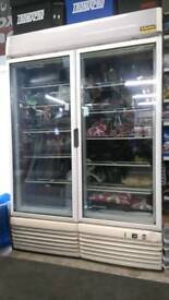 Commercial glass fronted freezer