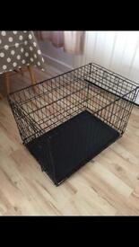 L Dog cage