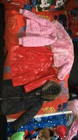 Girls jackets aged 3-4