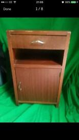 Retro bedside cabinet FREE DELIVERY PLYMOUTH AREA