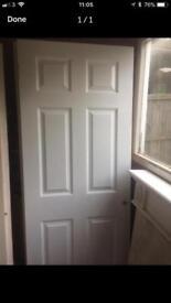 Six panel white fire door x2