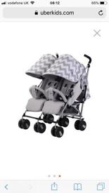 Like new double buggy