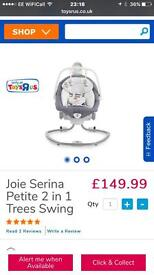 Joie serina 2in1 baby swing/rocker
