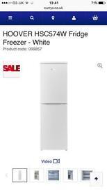 Hoover fridge £ freezer white
