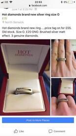 Hot Diamond Ring size O brand new