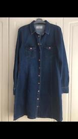 Ladies New Look Denim Dress Size 14 BNWOT