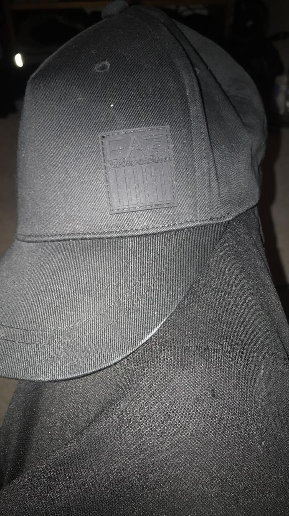 3bd22c24293 Black Emporio Armani baseball cap