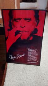 Charles Bukowski art print poster on Kodak photo paper, like new, 30 x 20cm, collect Porthtowan
