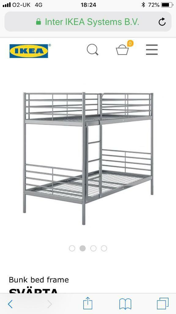 White metal frame bunk beds (IKEA) | in Bathgate, West Lothian | Gumtree