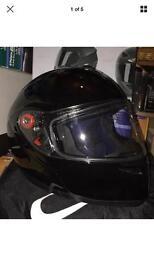 Flip up helmet black optimus large New