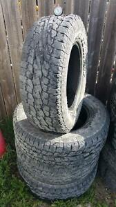 LT 265/70R17 Toyo Open Country A/T Set of 4 Truck Tires Used 7/32 Tread Depth