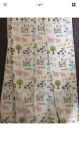 John Lewis nursery or children's room curtains farmhouse pattern