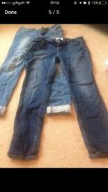 Bundle of size 14 jeans